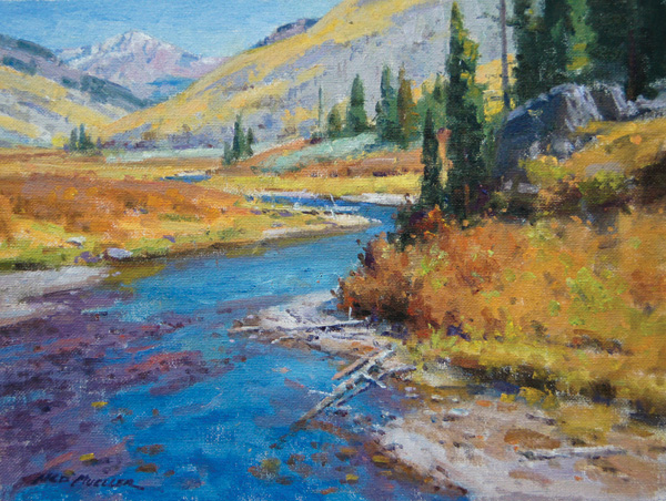 Ned Mueller, Crested Butte, Autumn, oil, 11 x 14.