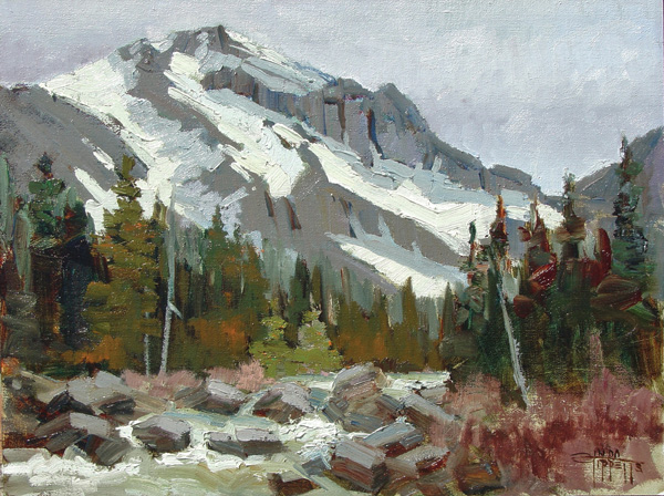Linda Tippetts, Rocky Mountain, oil, 11 x 14.
