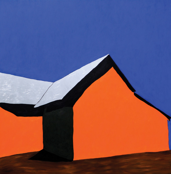 Alvin Gill-Tapia, Northern New Mexico Adobe II, acrylic, 50 x 50.