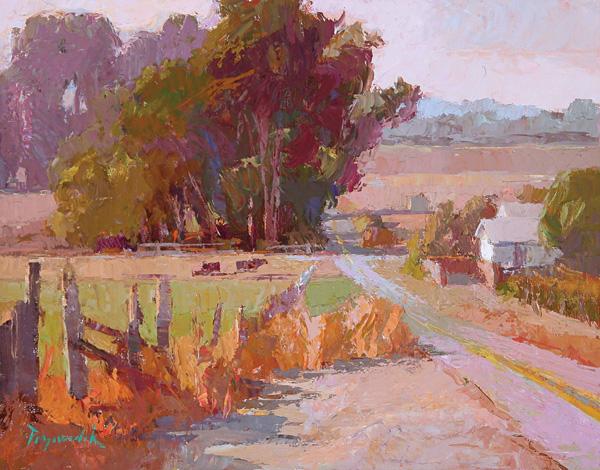 Camille Przewodek, Petaluma Pasture, oil, 11 x 14.