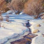 Chris Morel, Creek Bend, oil, 16 x 20.