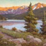 Chris Morel, Sunset Lake, oil, 24 x 36.