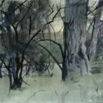 Kevin Weckbach, Gray Harmony, watercolor, 19 x 26.