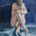 Kevin Weckbach, Self-Embrace, oil, 15 x 13.