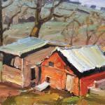 Anton Pavlenko, The Chicken Coop, oil, 12 x 16.