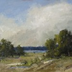 Sweet South-Wind That Means No Rain, oil, 12 x 24 by Bethanne Kinsella Cople