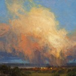 Kim Casebeer, Evening Monsoon, oil, 10 x 12.
