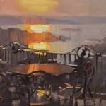 John P. Lasater IV, Buffalo Bar Sunset, oil, 14 x 18.