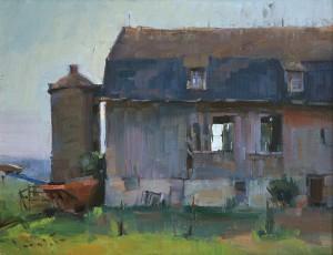 John P. Lasater IV, County Barn, oil, 14 x 18.
