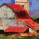 Linda St. Clair, Back Road Barn #1, oil, 6 x 12.