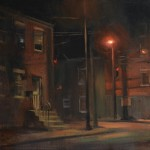 John P. Lasater IV, South and Carroll, oil, 14 x 18.