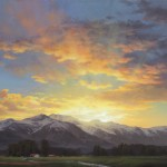 John D. Cogan, Day's Last Glory, acrylic, 18 x 24.