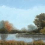 Jamie Kirkland, Pond Reflections, oil, 24 x 36.