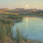 Clyde Aspevig, Prairie Oasis, oil, 36 x 42.