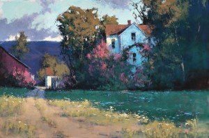 Romona Youngquist, Ancient Lilac, oil, 48 x 72.
