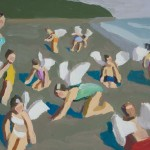 Peggi Kroll-Roberts, Angels on the Beach, oil, 11 x 14.