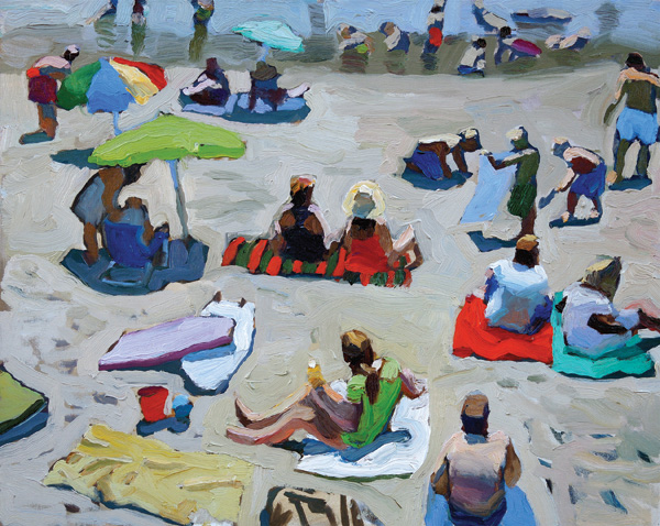 Peggi Kroll-Roberts, The Beach 16, oil, x 20.