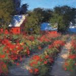 Romona Youngquist, Dahlias, oil, 30 x 40.