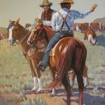 William Ersland, New Pasture, acrylic, 24 x 20.