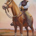 William Ersland, Up Along the Rimrock (detail), acrylic, 27 x 20.