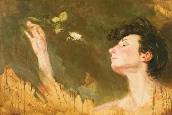 Lorraine Vail, Fragrance, oil, 24 x 36.