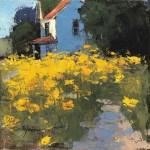Romona Youngquist, Golden Poppies, oil, 12 x 12.