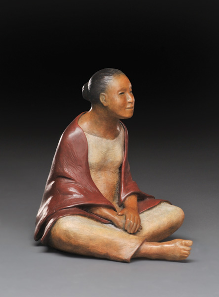 Liz Wolf, In the Moment, bronze, 10 x 9 x 10.