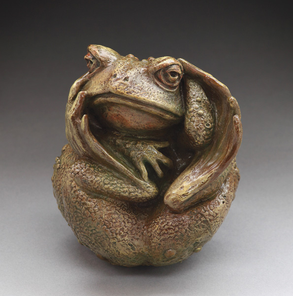 Christine Knapp, Twisted Toad, bronze, 4 x 3 x 3.