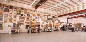 Robert Moore's studio in Delco, ID.