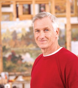 Robert Moore at his studio in Delco, ID.