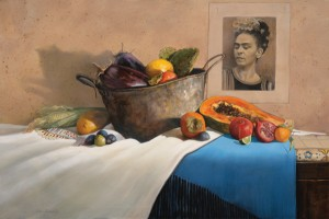 Roseta Santiago, A Moveable Feast, oil, 24 x 36.