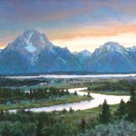 Aaron Schuerr, Oxbow Overlook, pastel, 24 x 36.