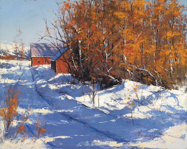 Romona Youngquist, Snowed In, oil, 24 x 30.