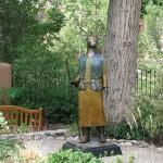 Liz Wolf, Standing Watch, bronze, 82 x 28 x 28.