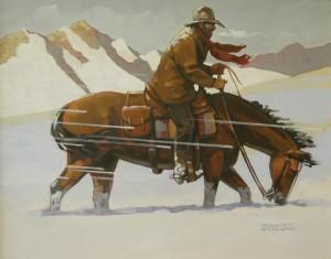 William Ersland, Tailwind, acrylic, 16 x 20.
