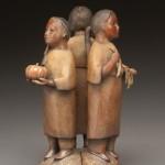 Liz Wolf, Three Sisters, bronze, 13 x 8 x 8.
