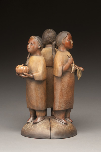 Liz Wolf, Three Sisters, bronze, 13 x 8 x 8.