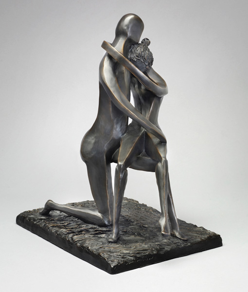 David Unger, Beneath the Stars, bronze, 18 x 15 x 11.