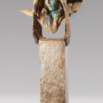 Greg Woodard, Eagle Medicine Man, bronze, 30 x 18 x 12.