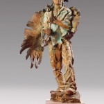 Greg Woodard, Eagle Wind, bronze, 40 x 25 x 10.