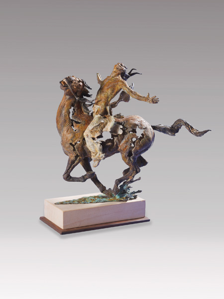 Greg Woodard, Ghost Rider, bronze, 27 x 29 x 19.
