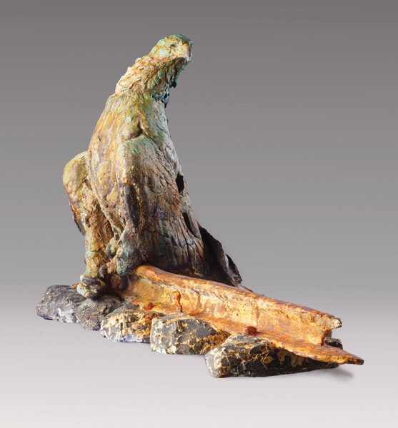 Greg Woodard, Looks West, bronze, 33 x 63 x 25.