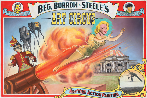 Ben Steele, Art Circus, oil, 36 x 54