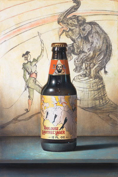 Ben Steele, Lautrec Lager, oil, 36 x 24