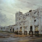 Lindsey Kustusch, The Old Plant, Deep Ellum, Texas, oil, 30 x 45.