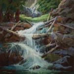 Teri Gortmaker, The Falls, pastel, 20 x 16.