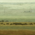 Terry Gardner, A Ranch in the Valley, oil, 36 x 60.