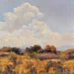 Matthew Higginbotham, Afternoon Thunderhead, oil, 12 x 12.