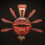 Toney Redman, Red Tail Hawk Kachina, steel/copper, 30 x 33 x 2.