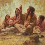 Howard Terpning, Blackfeet Storyteller, oil, 32 x 42. Estimate: $500,000-$750,000.